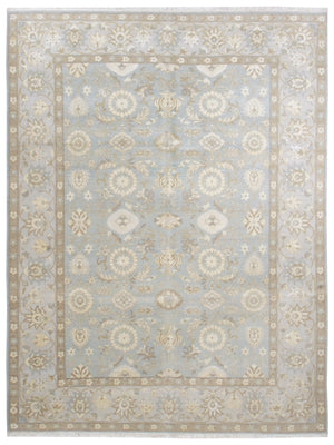 k5004 - Transitional Tabriz Rug (Wool and Silk) - 8' x 10' | OAKRugs by Chelsea affordable wool rugs, handmade wool area rugs, wool and silk rugs contemporary