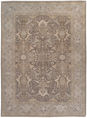 k5005 - Transitional Tabriz Rug (Wool and Silk) - 10' x 14' | OAKRugs by Chelsea affordable wool rugs, handmade wool area rugs, wool and silk rugs contemporary