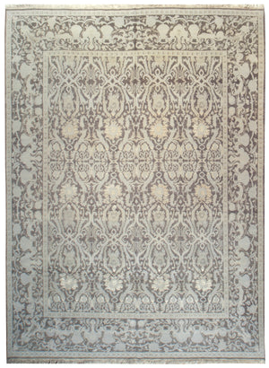 kay1004 - Transitional Tabriz Rug (Wool and SIlk) - 8' x 10' | OAKRugs by Chelsea affordable wool rugs, handmade wool area rugs, wool and silk rugs contemporary