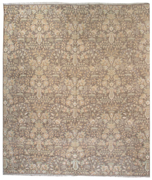kay1020 - Classic Tabriz Rug (Wool and SIlk) - 8' x 10' | OAKRugs by Chelsea affordable wool rugs, handmade wool area rugs, wool and silk rugs contemporary