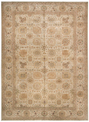 m108444 - Classic Agra Rug (Wool) - 9' x 12' | OAKRugs by Chelsea affordable wool rugs, handmade wool area rugs, wool and silk rugs contemporary