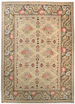 n0701 - European Besserebian Rug (Wool) - 10' x 14' | OAKRugs by Chelsea affordable wool rugs, handmade wool area rugs, wool and silk rugs contemporary