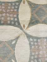 n1202 - Contemporary Modern Rug (Wool and Silk) - 6' x 9' | OAKRugs by Chelsea wool silk rugs contemporary, handmade modern wool rugs, wool silk area rugs contemporary