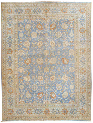 n124 - Classic Tabriz Rug (Wool) - 12' x 15' | OAKRugs by Chelsea affordable wool rugs, handmade wool area rugs, wool and silk rugs contemporary