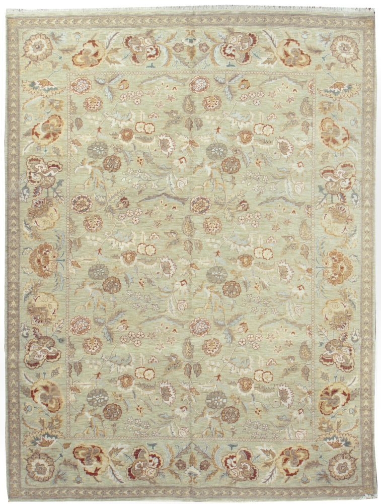 n129 - European Besserebian Rug (Wool) - 8' x 10' | OAKRugs by Chelsea affordable wool rugs, handmade wool area rugs, wool and silk rugs contemporary