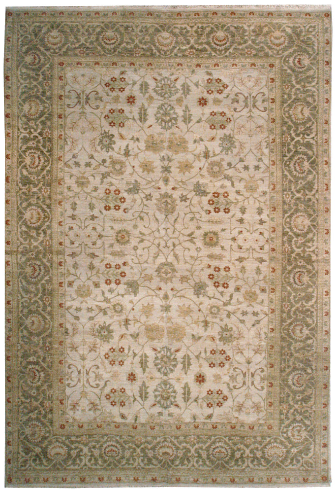n138 - Classic Tabriz Rug (Wool) - 10' x 14' | OAKRugs by Chelsea affordable wool rugs, handmade wool area rugs, wool and silk rugs contemporary
