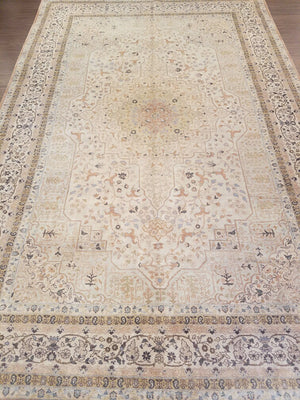 n1394 - Classic Tabriz Rug (wool) - 8' x 10' | OAKRugs by Chelsea wool bohemian rugs, good quality wool rugs, vintage wool braided rug