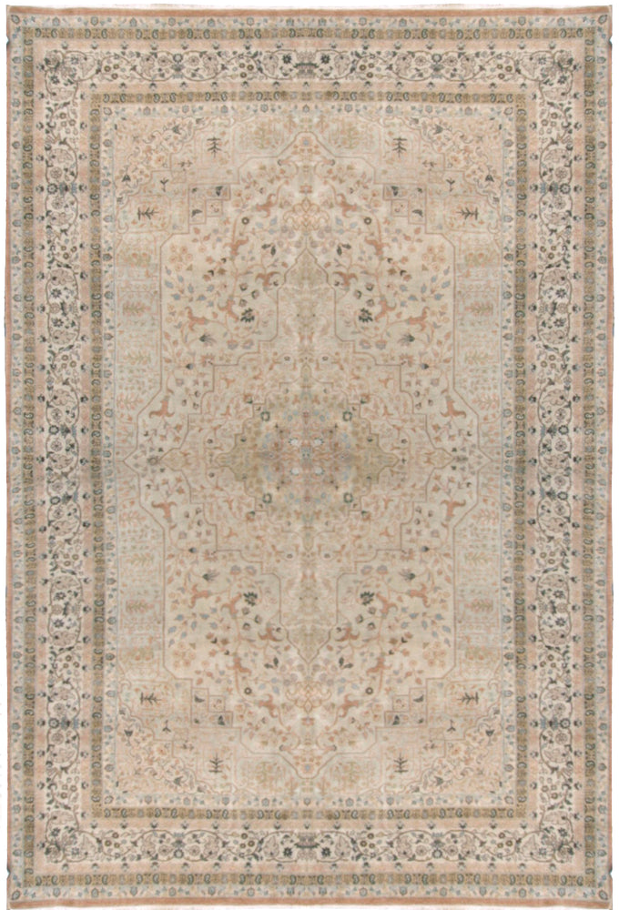n1394 - Classic Tabriz Rug (wool) - 8' x 10' | OAKRugs by Chelsea affordable wool rugs, handmade wool area rugs, wool and silk rugs contemporary