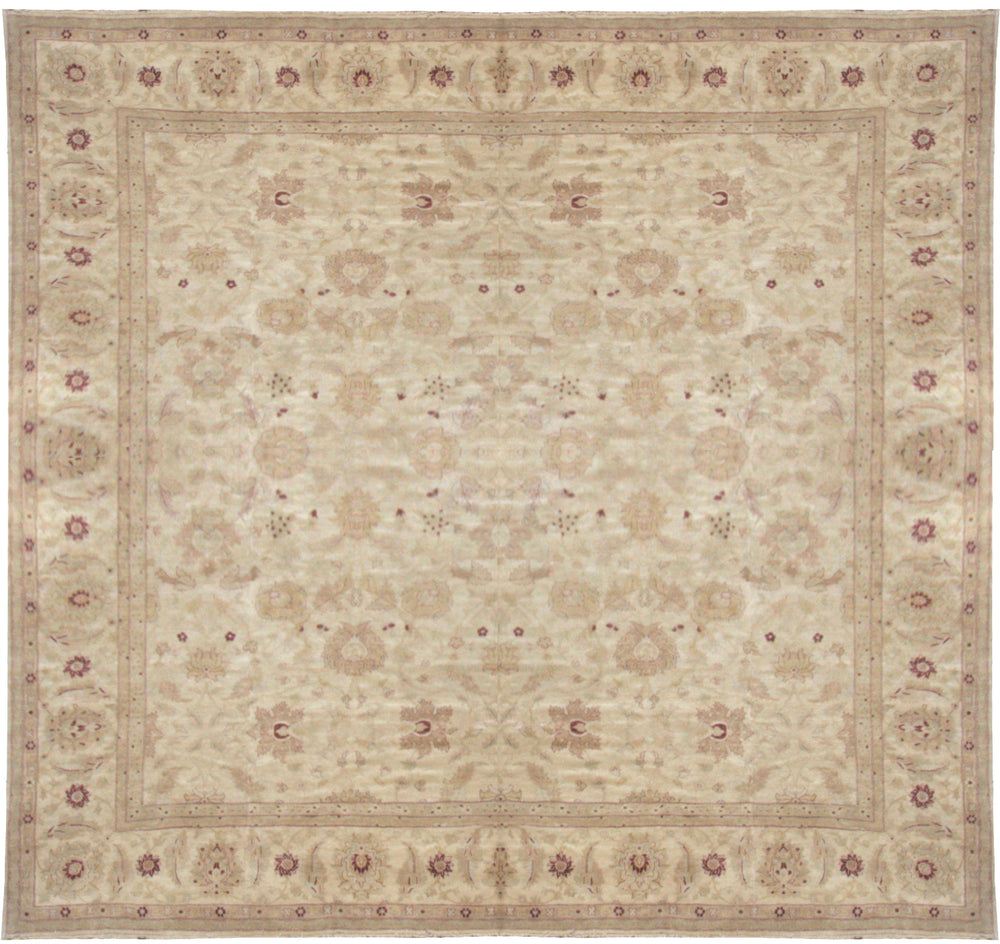 n172 - Classic Zeigler Rug (Wool) - 17' x 17' | OAKRugs by Chelsea affordable wool rugs, handmade wool area rugs, wool and silk rugs contemporary