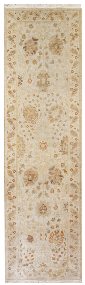 n210 - Classic Tabriz Rug (Wool) - 3' x 10' | OAKRugs by Chelsea affordable wool rugs, handmade wool area rugs, wool and silk rugs contemporary