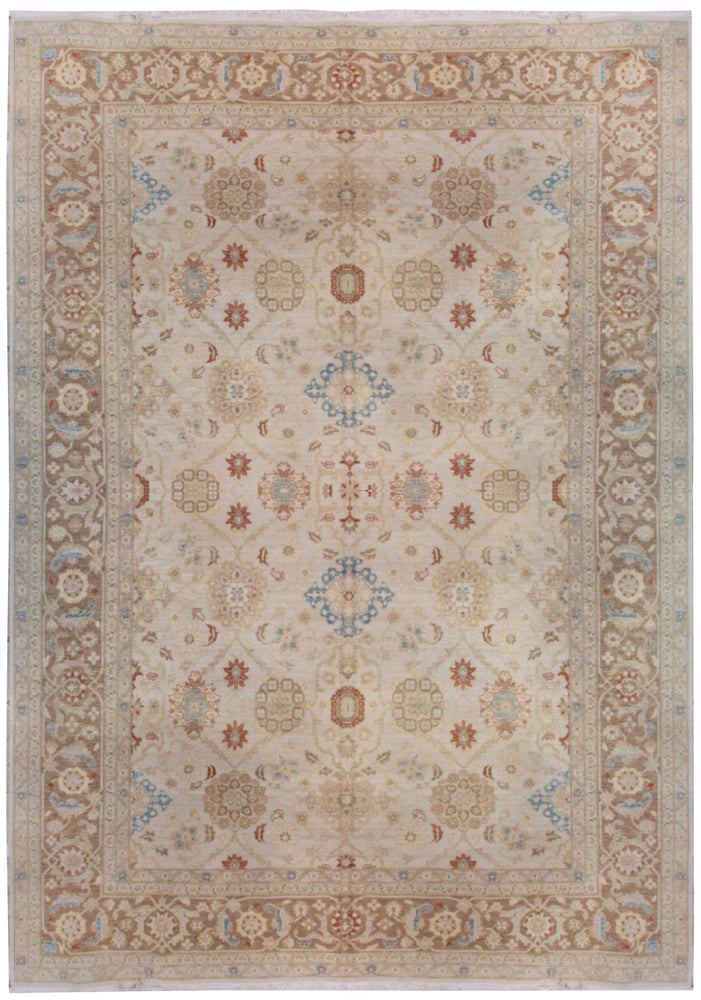 n23447 - Classic Agra Rug (wool) - 10' x 14' | OAKRugs by Chelsea affordable wool rugs, handmade wool area rugs, wool and silk rugs contemporary