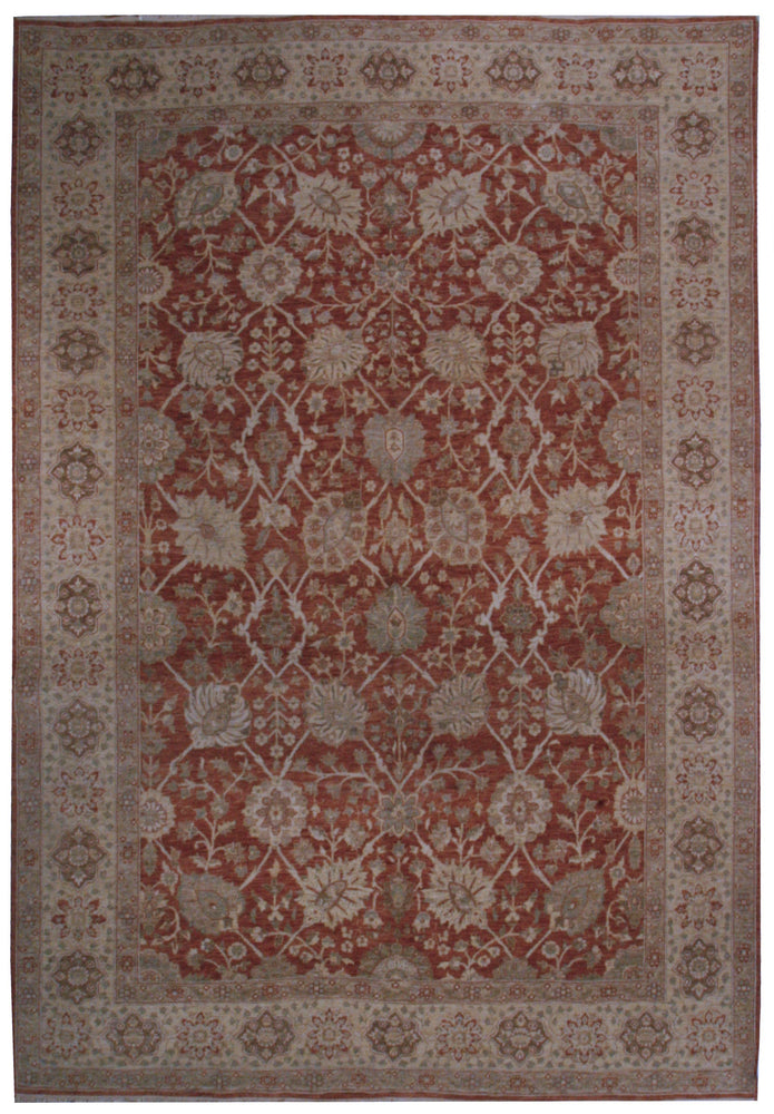 n235 - Classic Tabriz Rug (Wool) - 9' x 12' | OAKRugs by Chelsea affordable wool rugs, handmade wool area rugs, wool and silk rugs contemporary