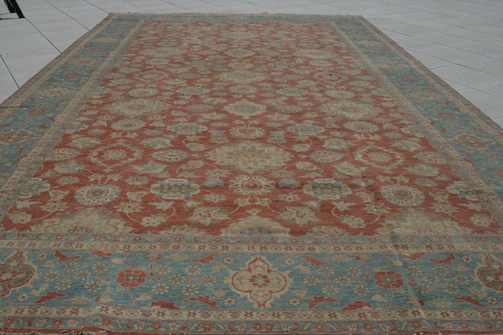 n248 - Classic Zeigler Rug (Wool) - 14' x 22' | OAKRugs by Chelsea wool bohemian rugs, good quality wool rugs, vintage wool braided rug