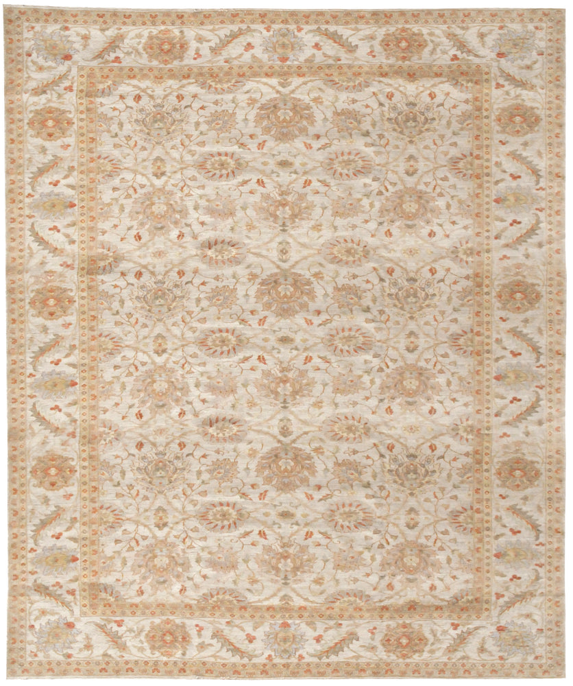 n261 - Classic Zeigler Rug (Wool) - 12' x 18' | OAKRugs by Chelsea affordable wool rugs, handmade wool area rugs, wool and silk rugs contemporary