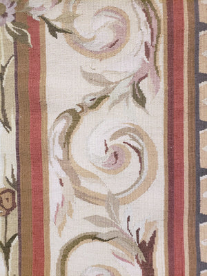 n26 - European Aubusson Rug (Wool) - 8' x 10' | OAKRugs by Chelsea antique wall rugs, handmade antique art rugs, European antique rugs