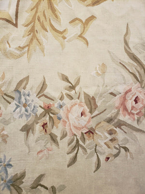 n28 - European Aubusson Rug (Wool) - 12' x 15' | OAKRugs by Chelsea second hand wool rugs, wool area rugs traditional, classical antique European rugs