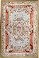 n29 - European Aubusson Rug (Wool) - 12' x 18' | OAKRugs by Chelsea 100 percent wool area rugs, vintage braided rugs for sale, antique tapestry rugs