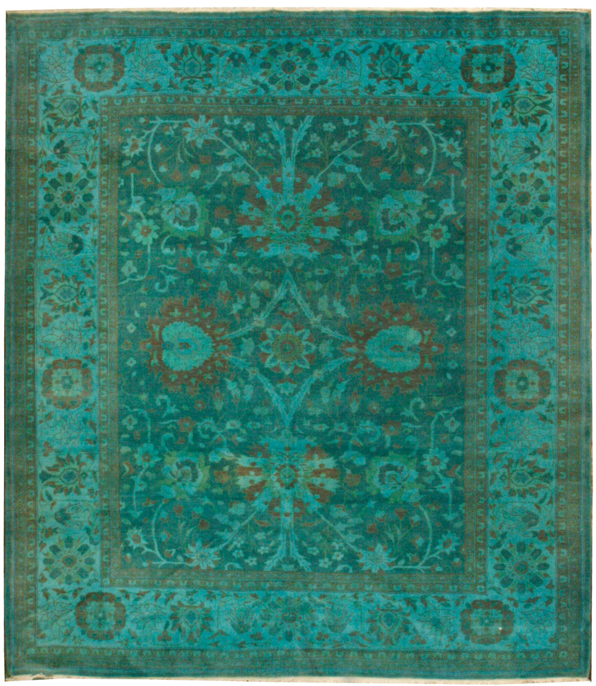 n301 - Transitional Overdye Rug (Wool) - 10' x 10' | OAKRugs by Chelsea contemporary overdye rugs, modern overdyed wool rugs, high quality overdyed rugs