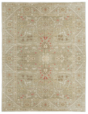 n307 - Classic Zeigler Rug (Wool) - 9' x 12' | OAKRugs by Chelsea affordable wool rugs, handmade wool area rugs, wool and silk rugs contemporary