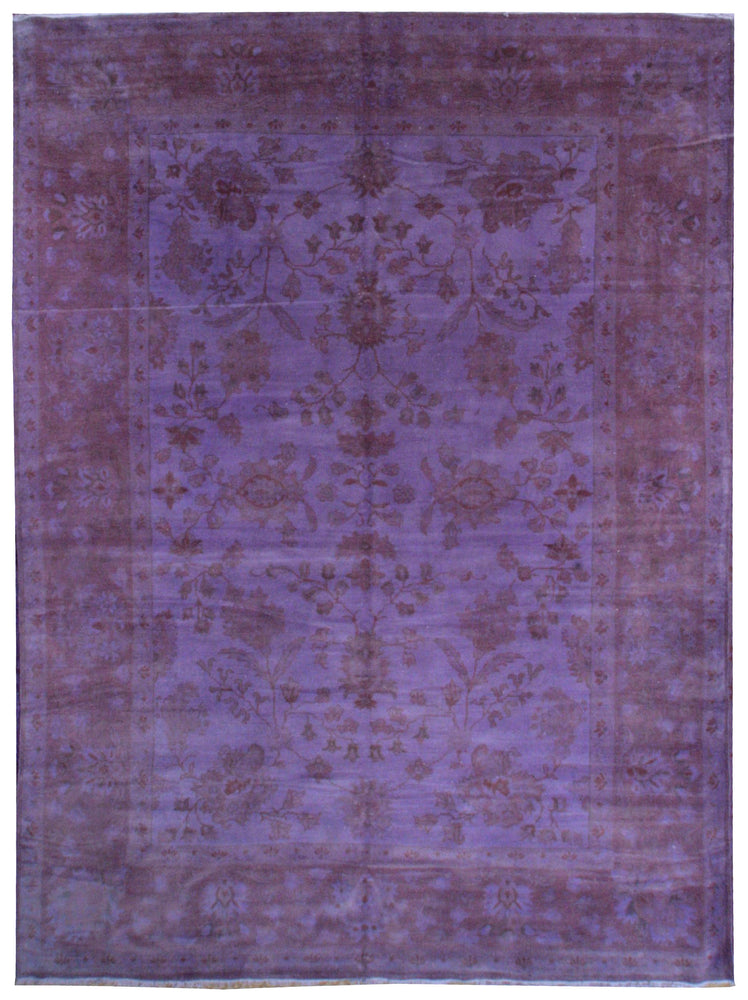 n309 - Transitional Overdye Rug (Wool) - 9' x 12' | OAKRugs by Chelsea contemporary overdye rugs, modern overdyed wool rugs, high quality overdyed rugs