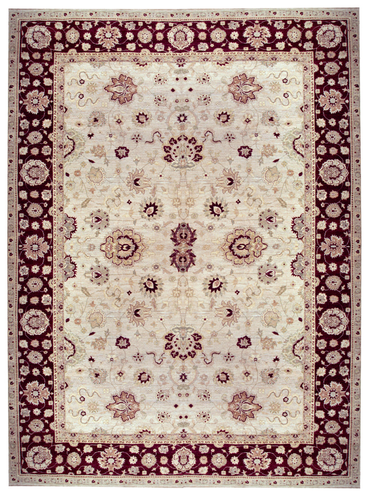 n329 - Classic Agra Rug (Wool) - 12' x 15' | OAKRugs by Chelsea affordable wool rugs, handmade wool area rugs, wool and silk rugs contemporary