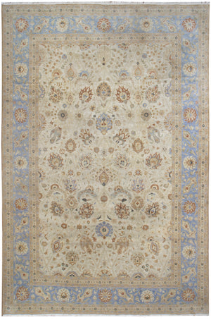 n332 - Classic Tabriz Rug (Wool) - 10' x 14' | OAKRugs by Chelsea affordable wool rugs, handmade wool area rugs, wool and silk rugs contemporary