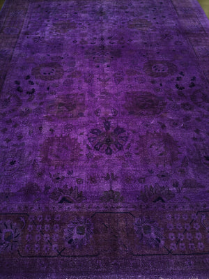 n339 - Transitional Overdye Rug (Wool) - 9' x 12' | OAKRugs by Chelsea handmade wool overdyed rugs, handcrafted wool overdye rugs, affordable wool overdyed rugs