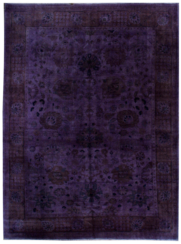n339 - Transitional Overdye Rug (Wool) - 9' x 12' | OAKRugs by Chelsea contemporary overdye rugs, modern overdyed wool rugs, high quality overdyed rugs
