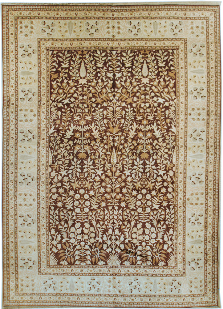n344 - Classic Tabriz Rug (Wool) - 9' x 12' | OAKRugs by Chelsea affordable wool rugs, handmade wool area rugs, wool and silk rugs contemporary