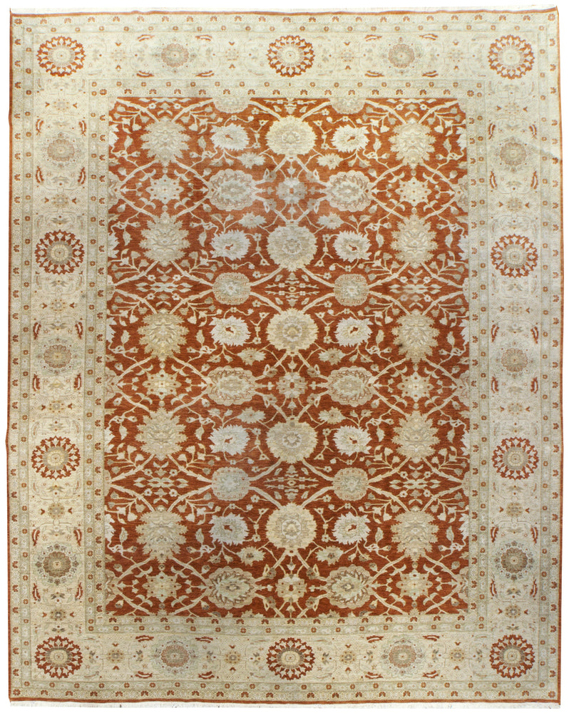 n347 - Classic Zeigler Rug (Wool) - 12' x 15' | OAKRugs by Chelsea affordable wool rugs, handmade wool area rugs, wool and silk rugs contemporary
