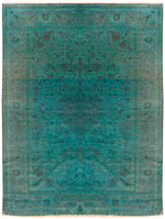 n358 - Transitional Overdye Rug (Wool) - 10' x 14' | OAKRugs by Chelsea contemporary overdye rugs, modern overdyed wool rugs, high quality overdyed rugs