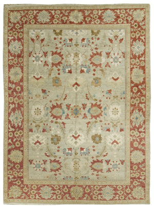 n371 - Classic Tabriz Rug (Wool and Silk) - 8' x 10' | OAKRugs by Chelsea affordable wool rugs, handmade wool area rugs, wool and silk rugs contemporary