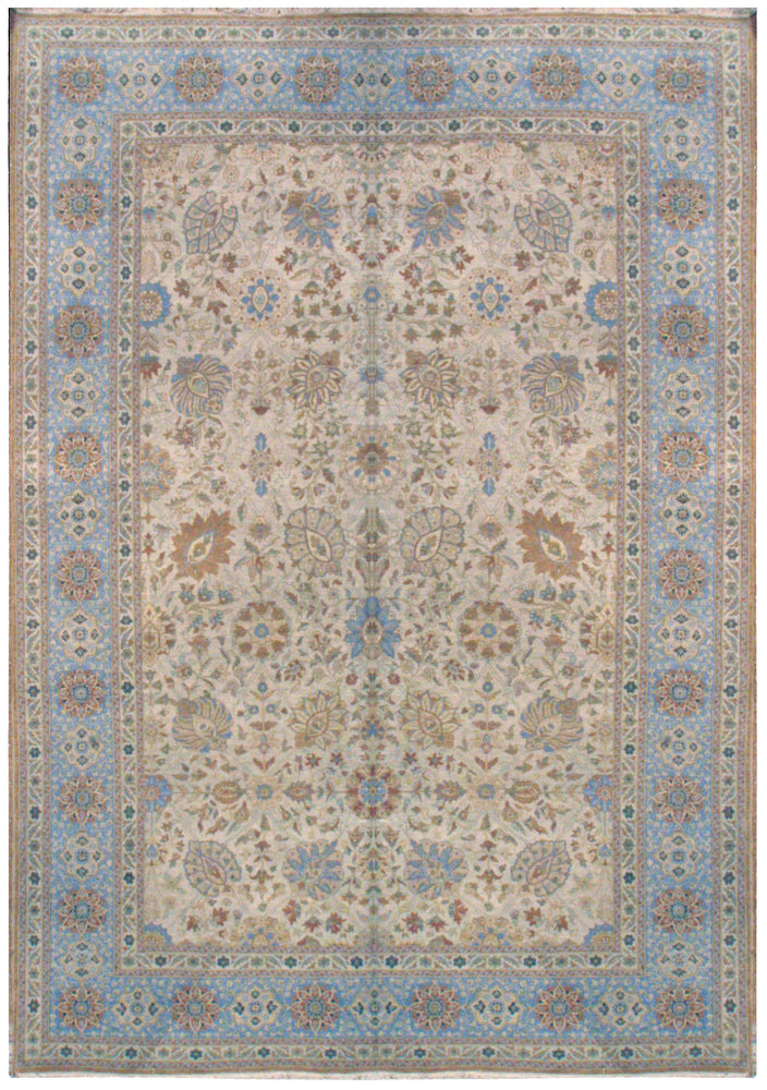 n3739 - Classic Tabriz Rug (Wool) - 10' x 14' | OAKRugs by Chelsea affordable wool rugs, handmade wool area rugs, wool and silk rugs contemporary