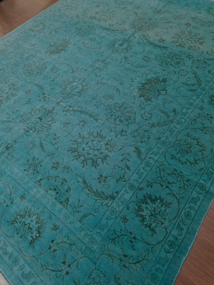 n373 - Transitional Overdye Rug (Wool) - 8' x 10' | OAKRugs by Chelsea handcrafted overdye rugs, handmade overdyed rugs, high quality overdyed area rugs