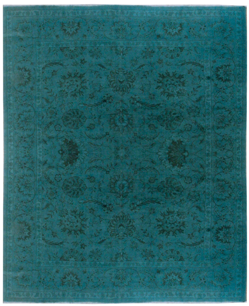 n373 - Transitional Overdye Rug (Wool) - 8' x 10' | OAKRugs by Chelsea contemporary overdye rugs, modern overdyed wool rugs, high quality overdyed rugs