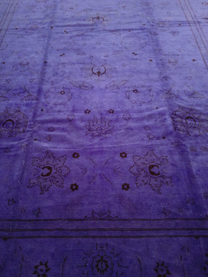 n381 - Transitional Overdye Rug (Wool) - 10' x 14' | OAKRugs by Chelsea handmade wool overdyed rugs, handcrafted wool overdye rugs, affordable wool overdyed rugs