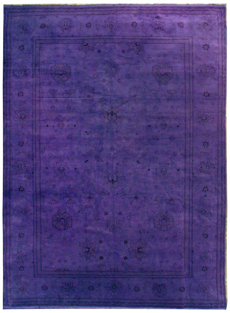 n381 - Transitional Overdye Rug (Wool) - 10' x 14' | OAKRugs by Chelsea contemporary overdye rugs, modern overdyed wool rugs, high quality overdyed rugs