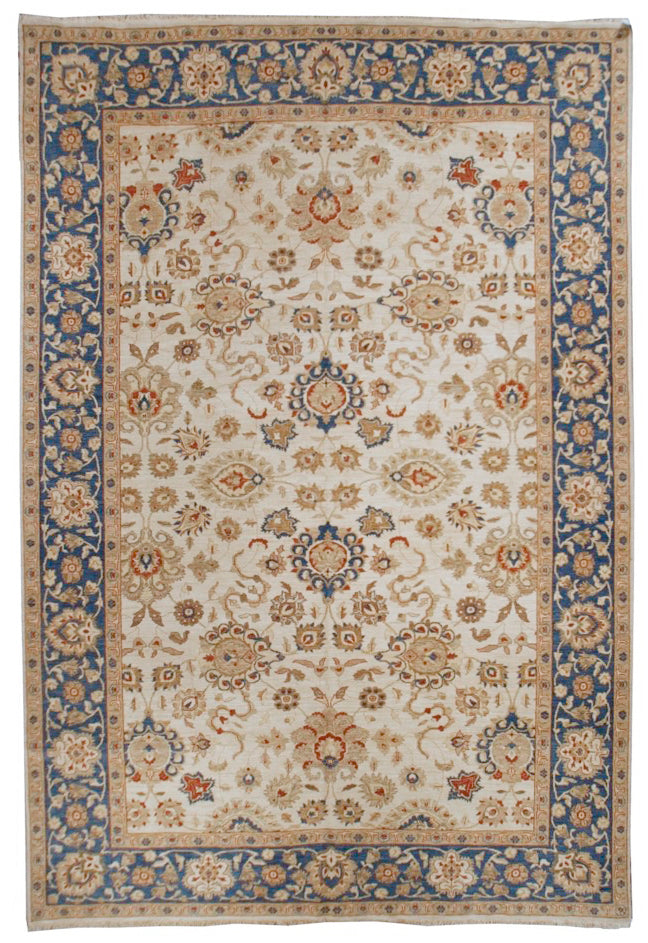 n386 - Classic Agra Rug (Wool) - 10' x 14' | OAKRugs by Chelsea affordable wool rugs, handmade wool area rugs, wool and silk rugs contemporary