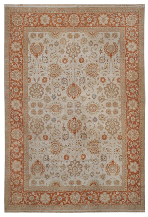 n387 - Classic Agra Rug (Wool) - 8' x 10' | OAKRugs by Chelsea affordable wool rugs, handmade wool area rugs, wool and silk rugs contemporary