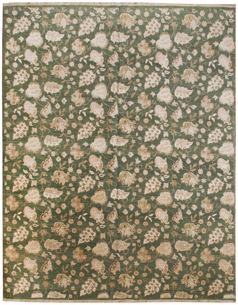 n388 - Contemporary Modern Rug (Wool and Silk) - 8' x 10' | OAKRugs by Chelsea inexpensive wool rugs, unique wool rugs, wool rug vintage