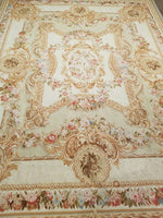 n397 - European Aubusson Rug (Wool) - 8' x 10' | OAKRugs by Chelsea second hand wool rugs, wool area rugs traditional, classical antique European rugs
