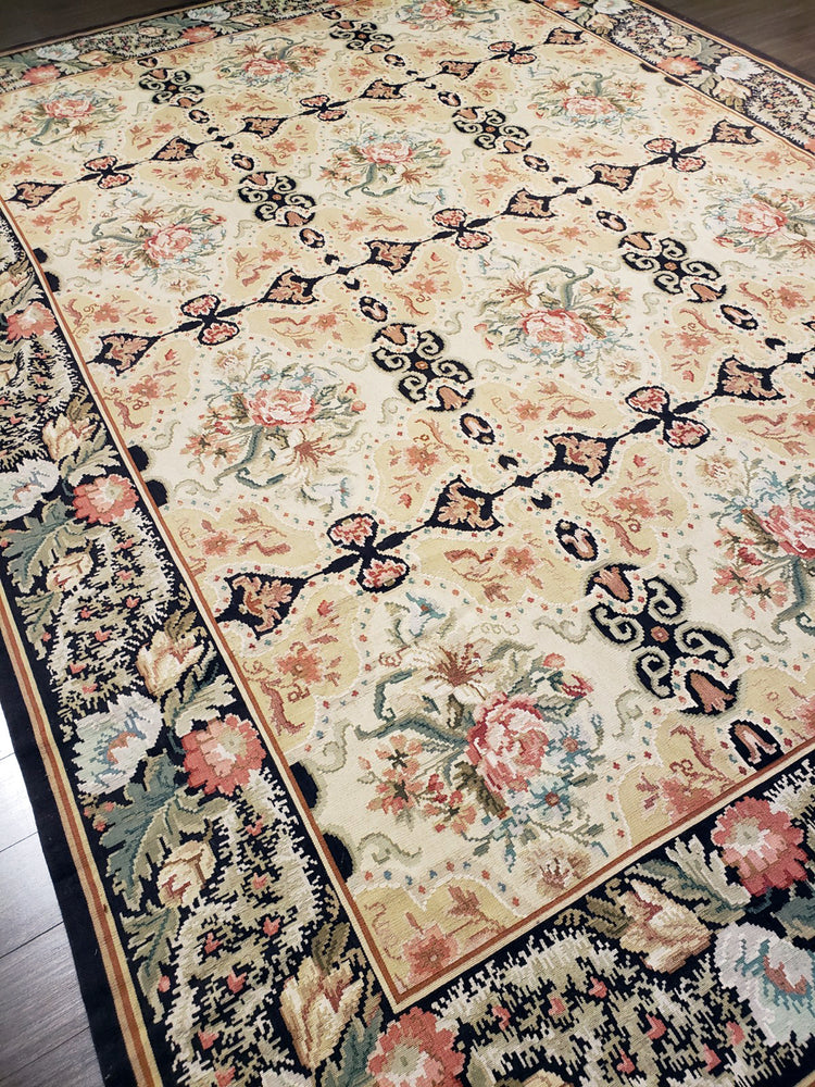 n3 - European Besserebian Rug (Wool) - 9' x 12' | OAKRugs by Chelsea wool bohemian rugs, good quality wool rugs, vintage wool braided rug