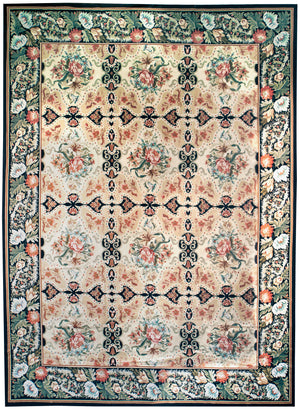 n3 - European Besserebian Rug (Wool) - 9' x 12' | OAKRugs by Chelsea affordable wool rugs, handmade wool area rugs, wool and silk rugs contemporary