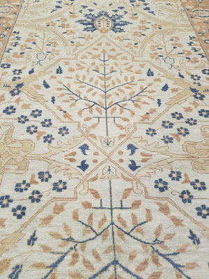 n42 - Classic Tabriz Rug (Wool) - 4' x 22' | OAKRugs by Chelsea wool bohemian rugs, good quality wool rugs, vintage wool braided rug