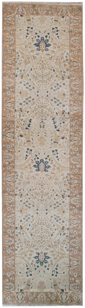 n42 - Classic Tabriz Rug (Wool) - 4' x 22' | OAKRugs by Chelsea affordable wool rugs, handmade wool area rugs, wool and silk rugs contemporary