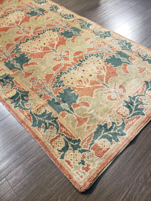n43 - Transitional Arts and Crafts Rug (Wool) - 3' x 15' | OAKRugs by Chelsea high end wool rugs, hand knotted wool area rugs, quality wool rugs