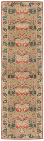 n43 - Transitional Arts and Crafts Rug (Wool) - 3' x 15' | OAKRugs by Chelsea affordable wool rugs, handmade wool area rugs, wool and silk rugs contemporary