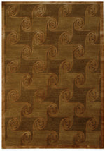 n443 - Contemporary Rug (Wool and Silk) - 4' x 6' | OAKRugs by Chelsea inexpensive wool rugs, unique wool rugs, wool rug vintage
