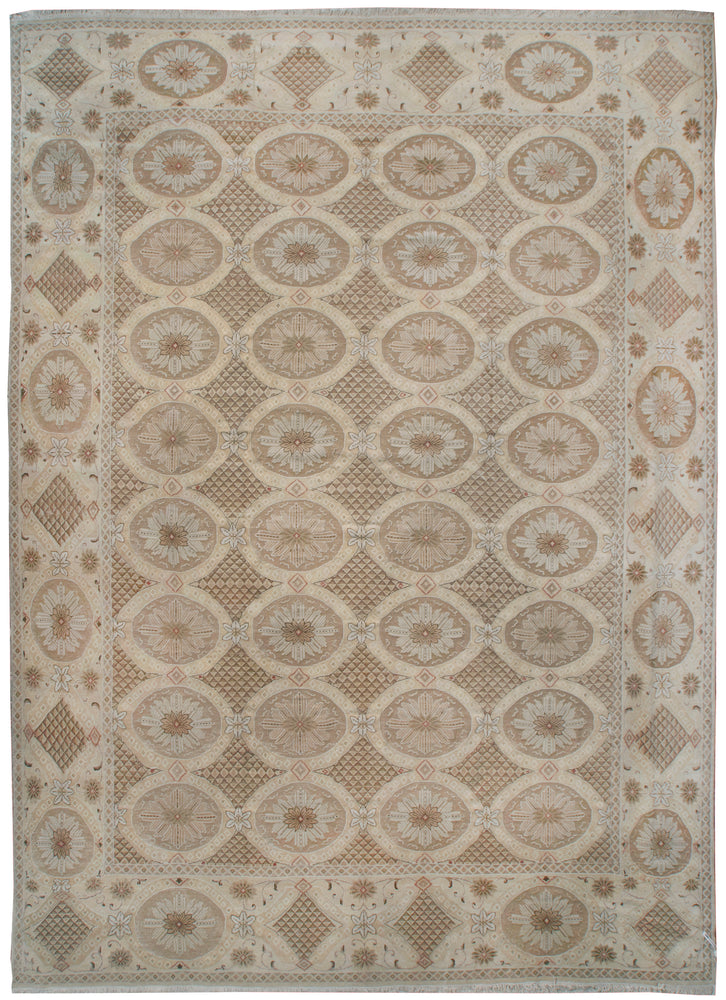 n470 - European Embossed Rug (Wool) - 10' x 11' | OAKRugs by Chelsea inexpensive wool rugs, unique wool rugs, wool rug vintage