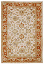 n480 - Classic Agra Rug (Wool) - 6' x 9' | OAKRugs by Chelsea affordable wool rugs, handmade wool area rugs, wool and silk rugs contemporary